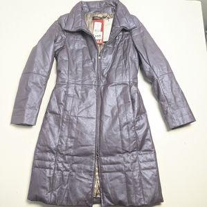NWT Danier Leather Jacket Women's Purple XS